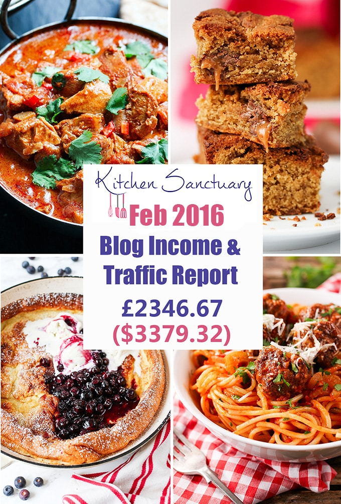 Blog income and traffic report feb 2016