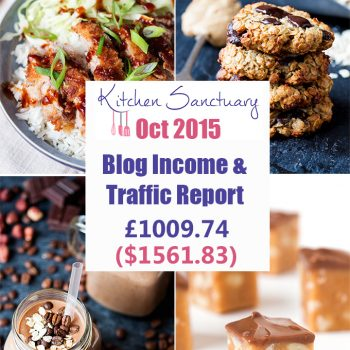 Blog Income and traffic report Oct 2015