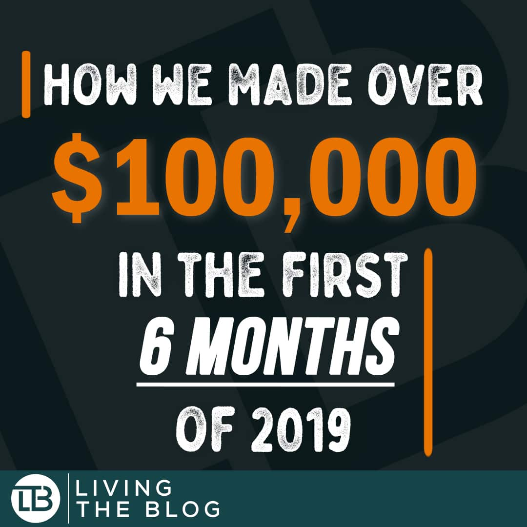 Square Infographic with the words How we made over one hundred thousand dollars in the first month of 2019